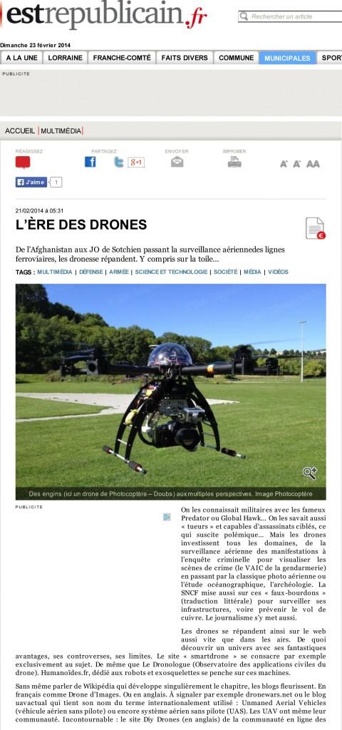 L'ère des drones - L'Est Républicain-1