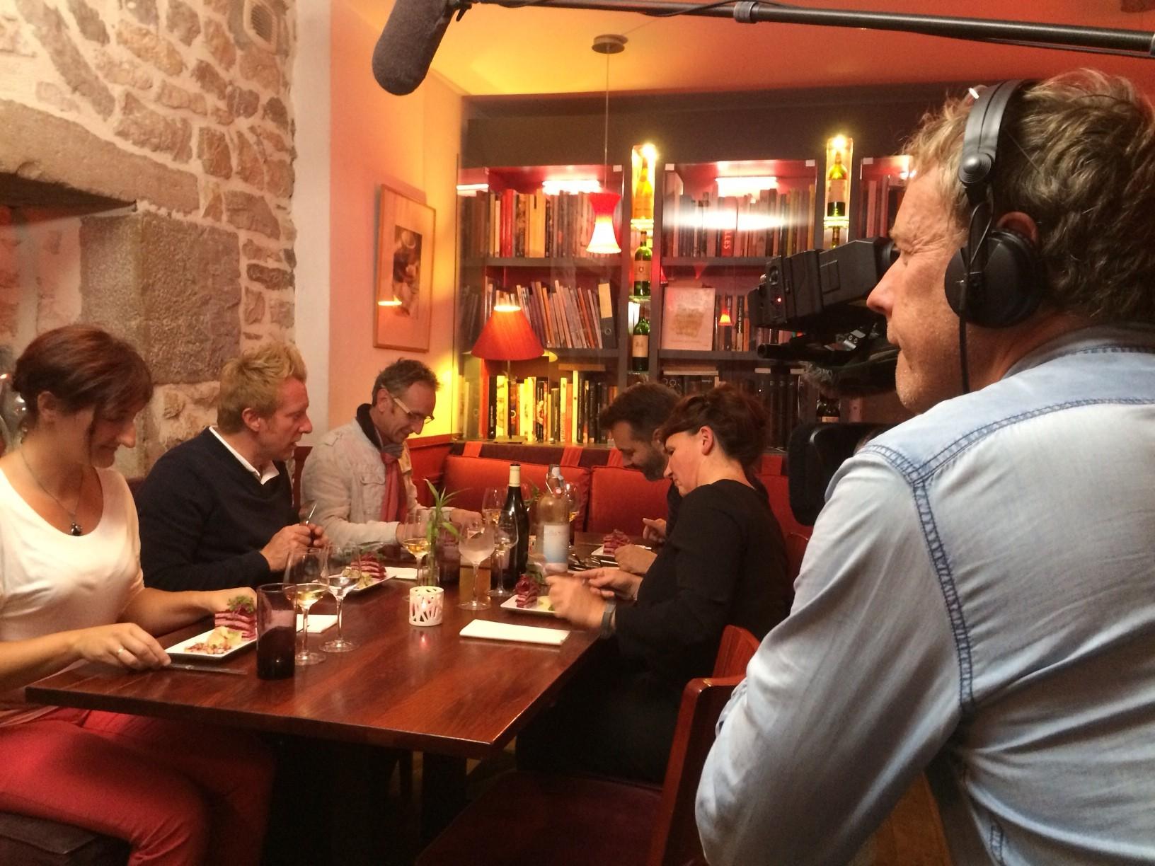 tournage au restaurant l'avant gout à Besançon