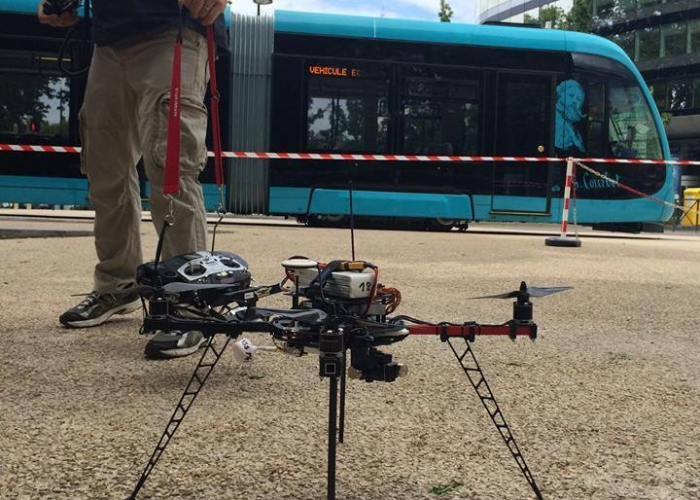 tournage tram ville drone galerie